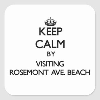 Keep calm by visiting Rosemont Ave. Beach Illinois Square Stickers