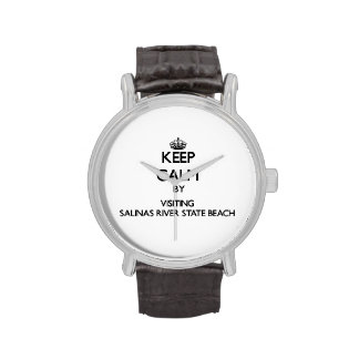 Keep calm by visiting Salinas River State Beach Ca Wrist Watch