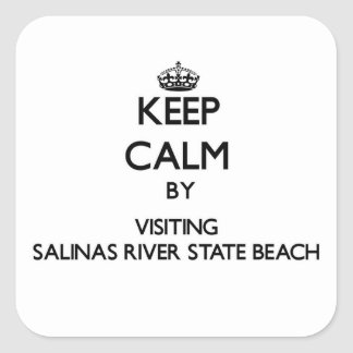 Keep calm by visiting Salinas River State Beach Ca Square Sticker