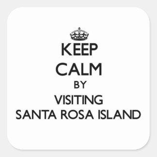 Keep calm by visiting Santa Rosa Island Florida Square Sticker