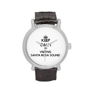 Keep calm by visiting Santa Rosa Sound Florida Wrist Watch
