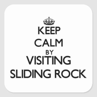 Keep calm by visiting Sliding Rock Samoa Stickers