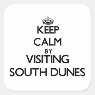 Keep calm by visiting South Dunes Georgia Square Sticker