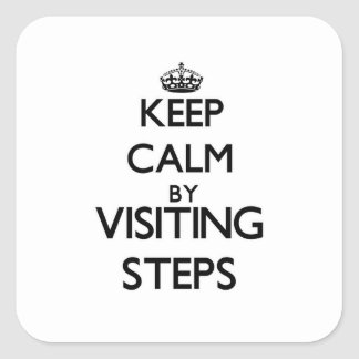 Keep calm by visiting Steps Massachusetts Stickers