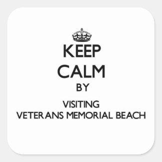 Keep calm by visiting Veterans Memorial Beach Nort Stickers