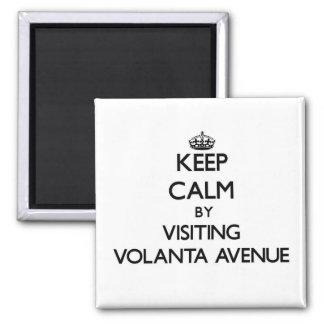 Keep calm by visiting Volanta Avenue Alabama Square Magnet