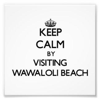 Keep calm by visiting Wawaloli Beach Hawaii Photo Print