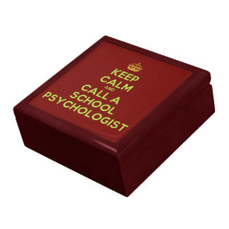 Keep Calm & Call a School Psychologist (wood box) Gift Box