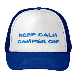 KEEP CALM CAMPER ON TRUCKER HAT