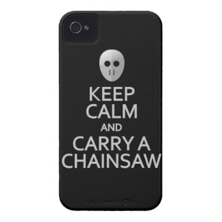 Keep Calm Carry a Chainsaw Blackberry Curve case