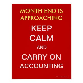 Keep Calm Carry On Accounting Accountant Poster