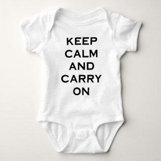 Keep Calm Carry On Baby Bodysuit