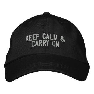 Keep Calm & Carry on Cap