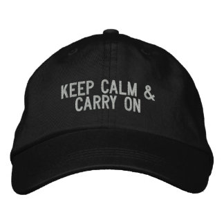Keep Calm & Carry on Cap Embroidered Baseball Caps