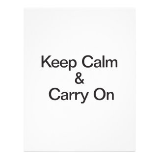 Keep Calm & Carry On Personalized Flyer