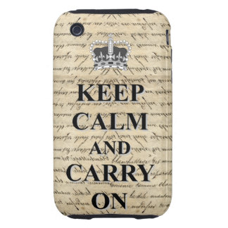 Keep Calm & Carry On iPhone 3 Tough Covers