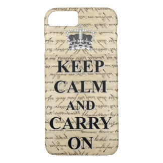 Keep Calm & Carry On iPhone 8/7 Case