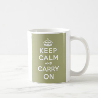 Keep Calm & Carry On Mug Sage Green