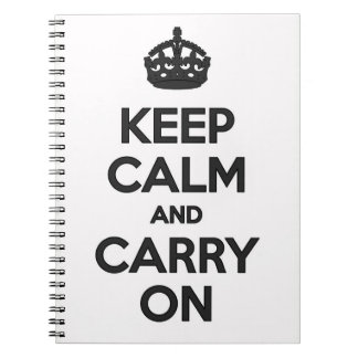 Keep Calm & Carry on Notebook