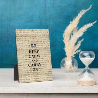 Keep Calm & Carry On Plaque