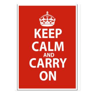 Keep Calm & Carry On Postcard