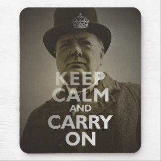 Keep Calm & Carry On Winston Churchill Mouse Mat