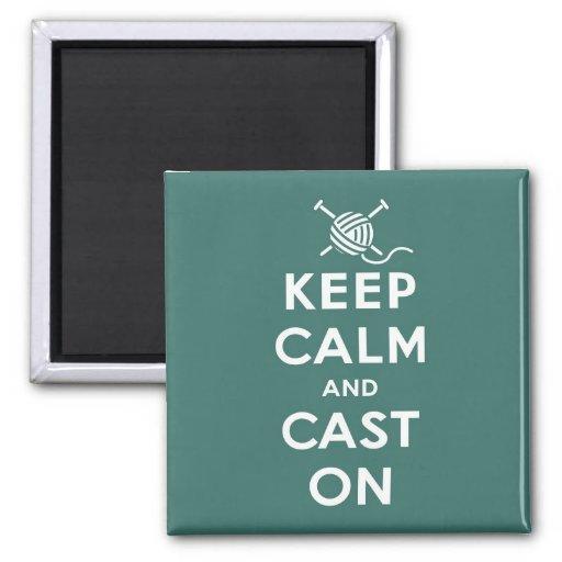 Keep Calm & Cast On Magnet
