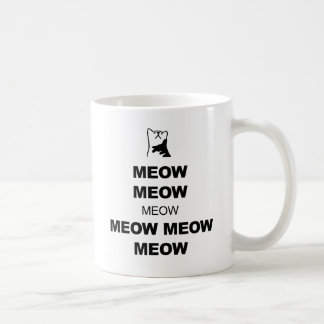Keep Calm (Cat Meow) Coffee Mug