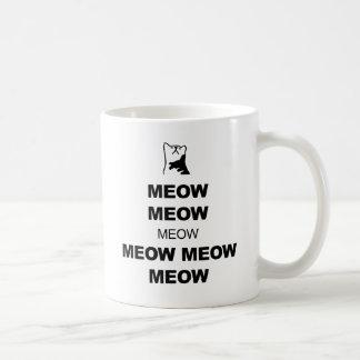 Keep Calm Cat Meow Mug