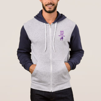Keep Calm & Catch a Purple Unicorn Men's Hoodie