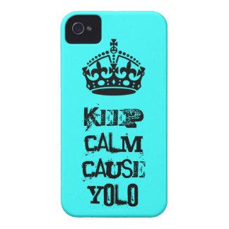 Keep Calm Cause Yolo iPhone 4 Case