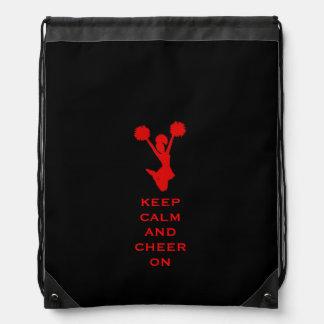 Keep Calm Cheerleader Drawstring Backpack