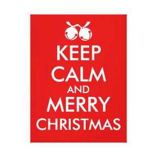 Keep Calm Christmas Canvas Art Make Your Own Canvas Prints