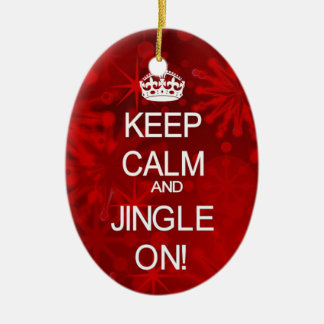 Keep Calm Christmas Jingle ornament