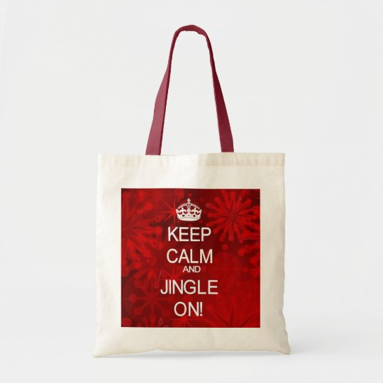 Keep Calm Christmas Jingle red gift bag