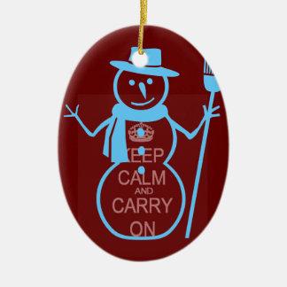Keep calm christmas ornament