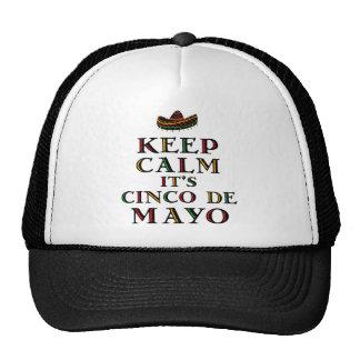 Keep Calm Cinco De Mayo Trucker Hat