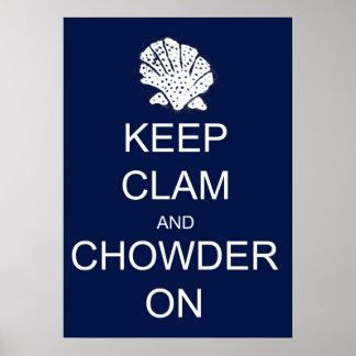 Keep Calm Clam Parody Poster