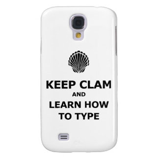 Keep Calm Clam Samsung Galaxy S4 Case
