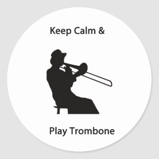 Keep calm classic round sticker