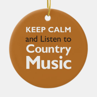 Keep Calm Country Christmas Ornament