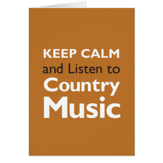 Keep Calm Country Greeting Card