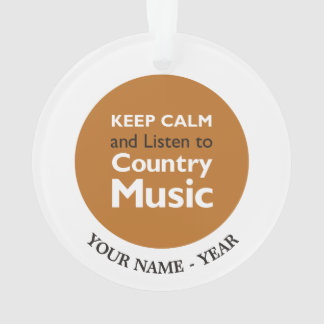 Keep Calm Country Ornament