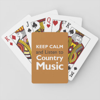 Keep Calm Country Playing Cards
