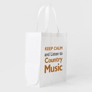 Keep Calm Country Reusable Grocery Bag