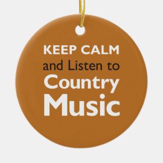 Keep Calm Country Round Ceramic Decoration
