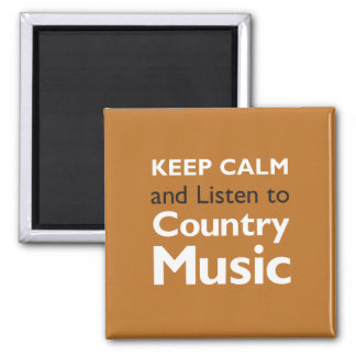 Keep Calm Country Square Magnet