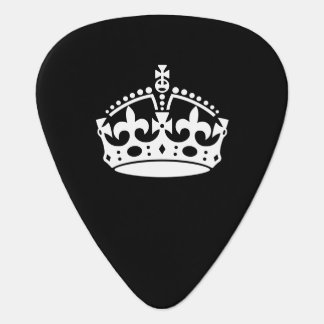 KEEP CALM CROWN Icon on Black Customize This Plectrum