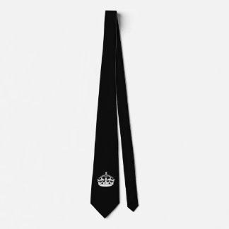 Keep Calm Crown on Black Tie