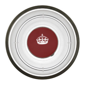 Keep Calm Crown on Burgundy Red Decor